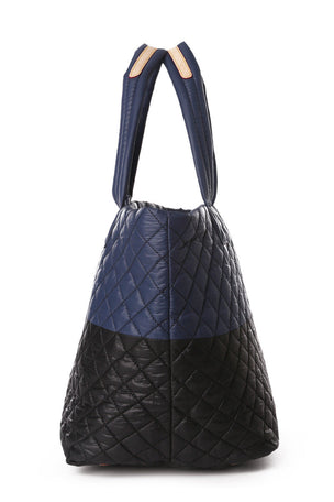 MZ Wallace Medium Metro Tote - Black Navy image 3 - The Sports Edit