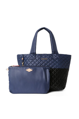 MZ Wallace Medium Metro Tote - Black Navy image 4 - The Sports Edit