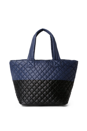 MZ Wallace Medium Metro Tote - Black Navy image 5 - The Sports Edit