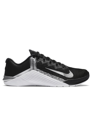 Nike Metcon 6 Shoes - Black/Metallic Silver | Women's image 1 - The Sports Edit