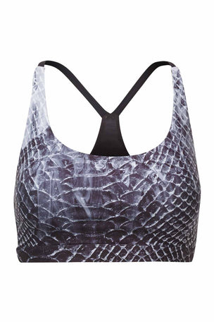 Nimble Y Back Sports Bra Marbled Snake image 4 - The Sports Edit