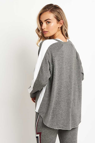 Sundry Long Sleeve Raglan Sweatshirt - Grey/White image 2 - The Sports Edit