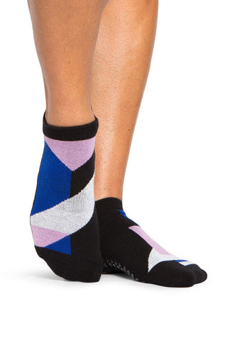 Pointe Studio Linh Grip Sock- Black/Blue image 1 - The Sports Edit