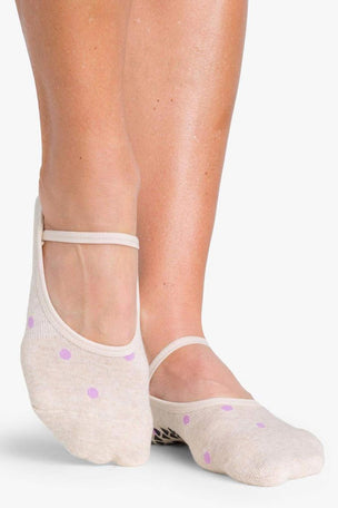 Pointe Studio Shay Dance Grip - Oatmeal Purple image 2 - The Sports Edit