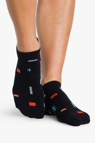 Pointe Studio Slate Grip Sock - Black Teal image 2 - The Sports Edit