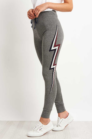 Sundry Lightning Bolt Skinny Sweatpants image 1 - The Sports Edit