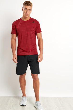 Reebok ACTIVCHILL Move Tee - Cranberry image 4 - The Sports Edit