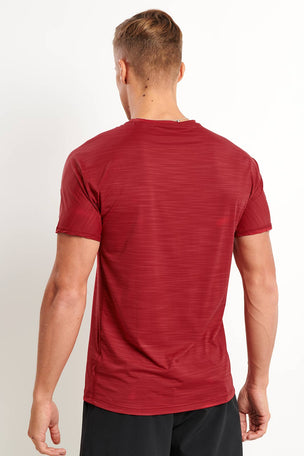 Reebok ACTIVCHILL Move Tee - Cranberry image 2 - The Sports Edit