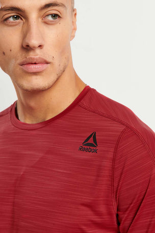 Reebok ACTIVCHILL Move Tee - Cranberry image 3 - The Sports Edit