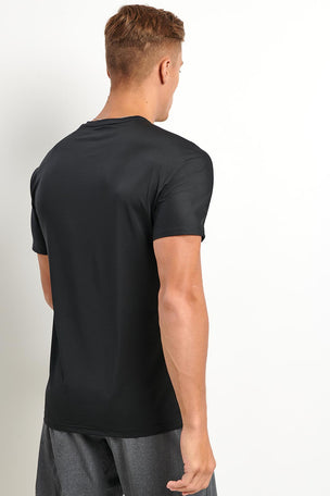 Reebok ACTIVCHILL Vent Tee - Black image 2 - The Sports Edit