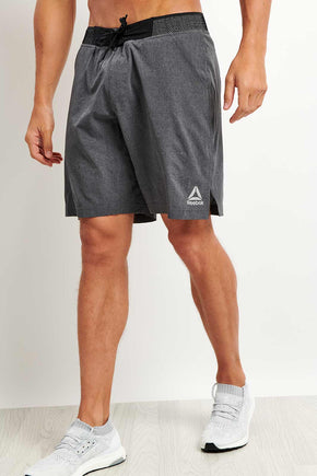 87ea4e4c9c9e8 Reebok Epic Knit Waistband Short - Dark Grey image 1 - The Sports Edit