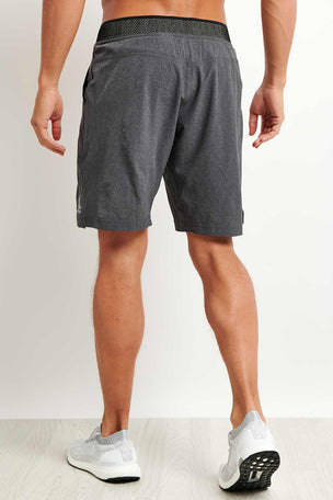 Reebok Epic Knit Waistband Short - Dark Grey image 2 - The Sports Edit