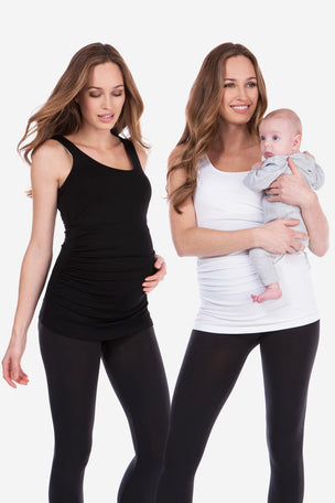 Seraphine Maternity & Nursing Tops - Black & White Twin Pack image 3 - The Sports Edit