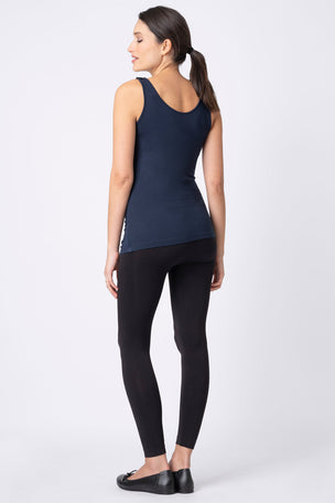 Seraphine Maternity & Nursing Tops - Grey & Navy Twin Pack image 6 - The Sports Edit