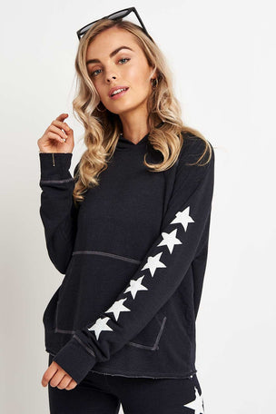 Sundry Side Stars Cropped Hoodie image 1 - The Sports Edit