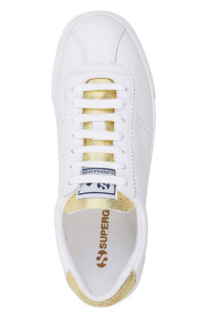 Superga 2843 Superga Sport Club S - White/Gold image 3 - The Sports Edit