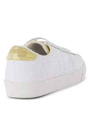 Superga 2843 Superga Sport Club S - White/Gold image 2 - The Sports Edit