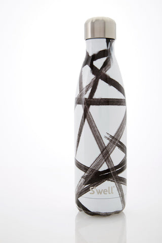 S'Well S'well Bottle Black Ribbon 500ml image 1 - The Sports Edit