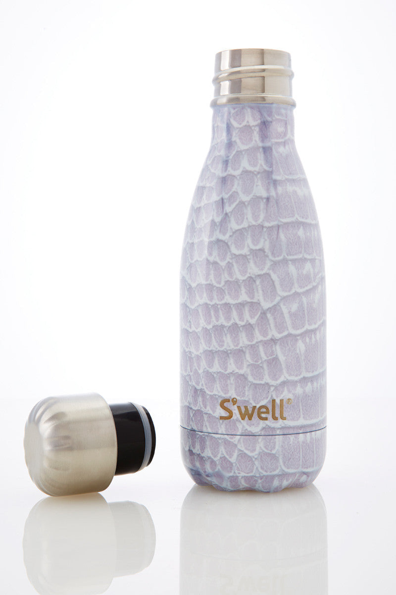 S'Well S'well Bottle Blanc Croc 260ml image 3 - The Sports Edit
