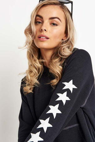 Sundry Side Stars Cropped Hoodie image 3 - The Sports Edit