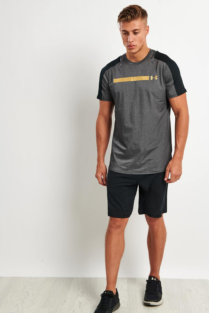 3d2a534c8b Under Armour Perpetual Fitted Short Sleeve Tee Black image 2 - The Sports  Edit