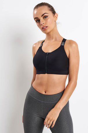 Under Armour Vanish High Zip Bra image 1 - The Sports Edit