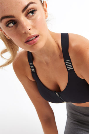 Under Armour Vanish High Zip Bra image 3 - The Sports Edit