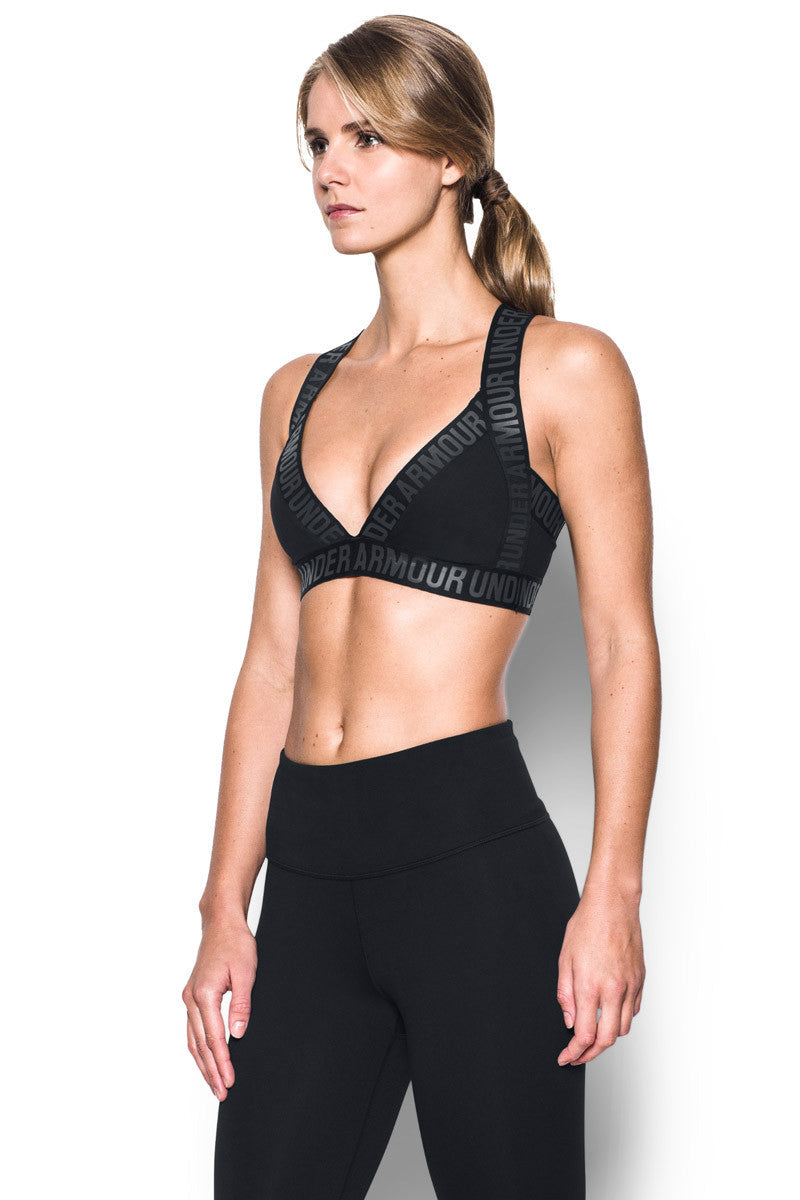 Under Armour Opening Night Strappy Bra Black image 3 - The Sports Edit