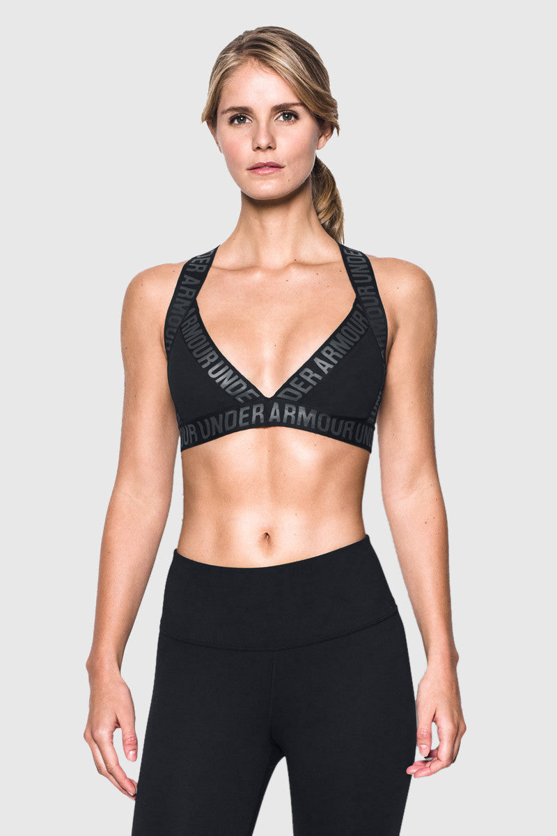 Under Armour Opening Night Strappy Bra Black image 1 - The Sports Edit