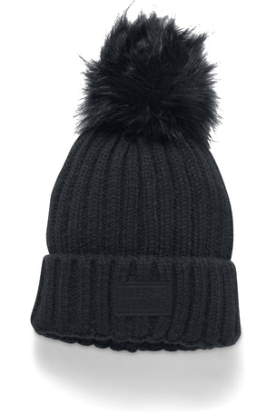 Under Armour Snowcrest Pom Beanie - Black image 1 - The Sports Edit