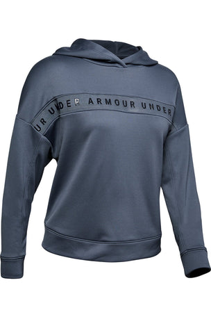 Under Armour Tech Terry Hoodie - Blue image 5 - The Sports Edit