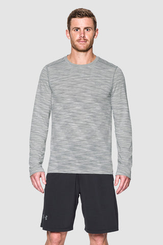 Under Armour UA Threadborne Seamless Long Sleeve T-Shirt - Grey image 1 - The Sports Edit