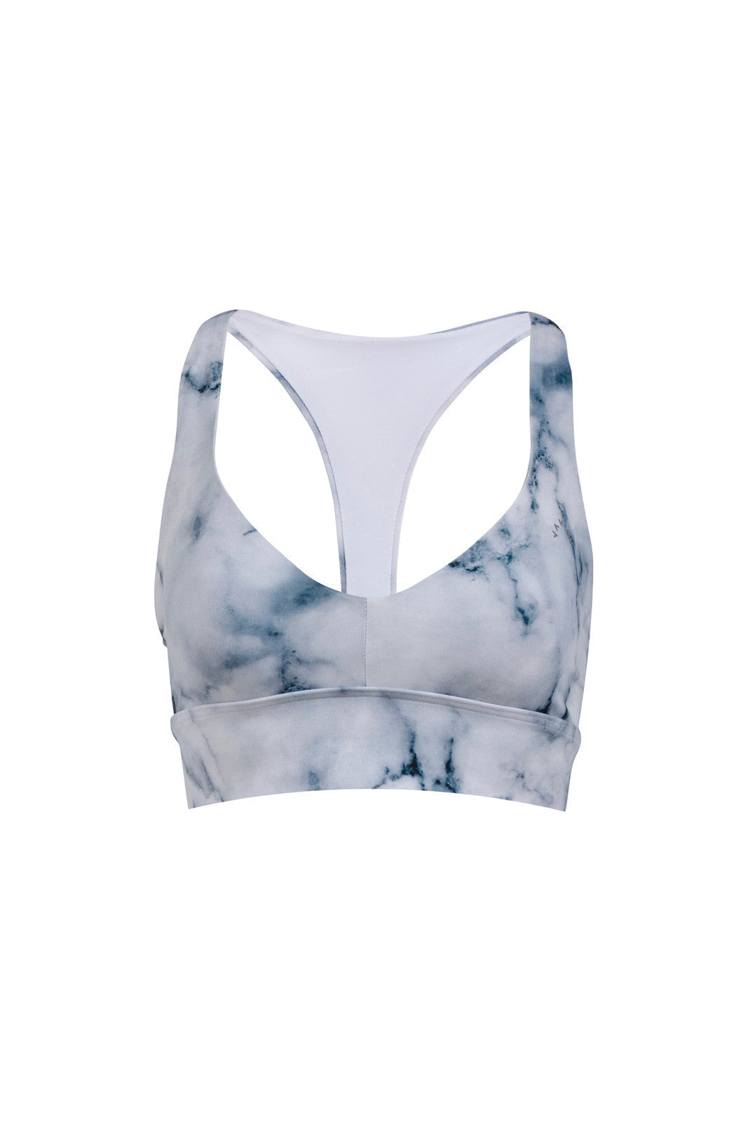 Varley Brighton Sports Bra Teal Marble image 3 - The Sports Edit