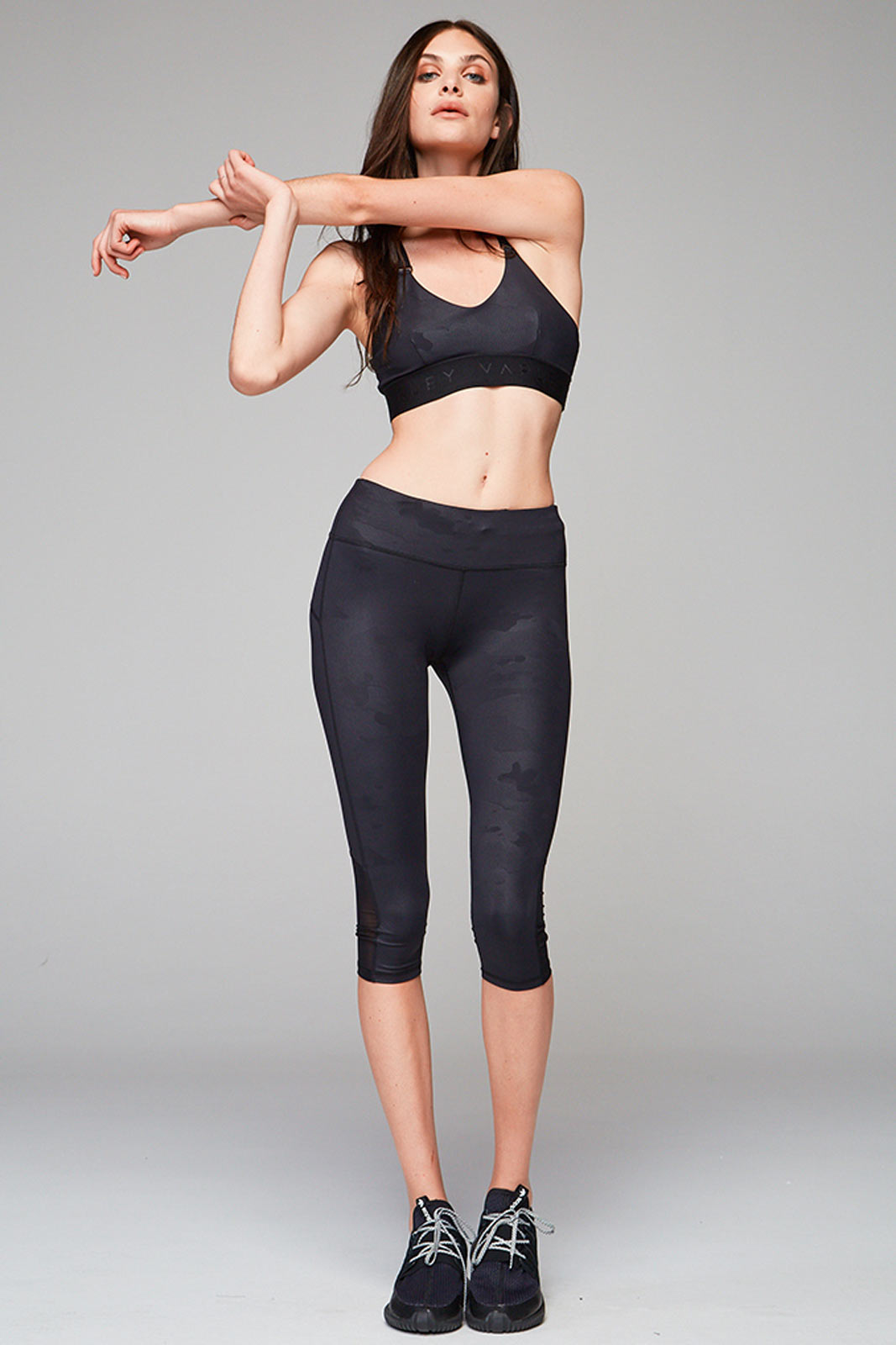 Varley Gale Sports Bra - Black Camo image 3 - The Sports Edit