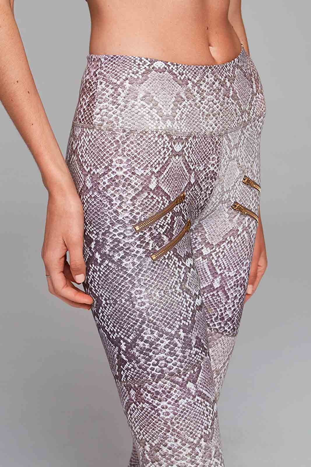 Varley Palms Tight - Taupe Snake image 2 - The Sports Edit