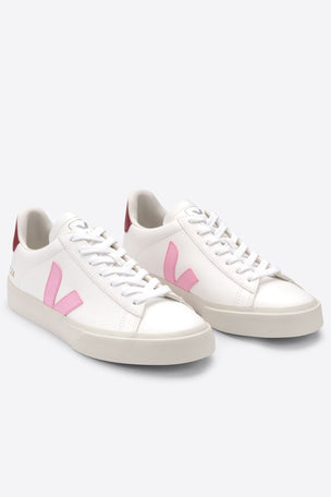 Veja Campo Leather - White Guimauve Marsala | Women's image 2 - The Sports Edit
