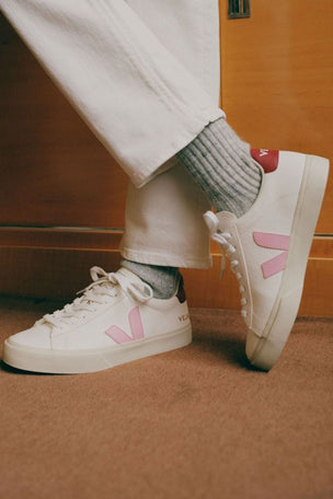Veja Campo Leather - White Guimauve Marsala | Women's image 5 - The Sports Edit
