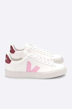 Veja Campo Leather - White Guimauve Marsala | Women's image 3 - The Sports Edit