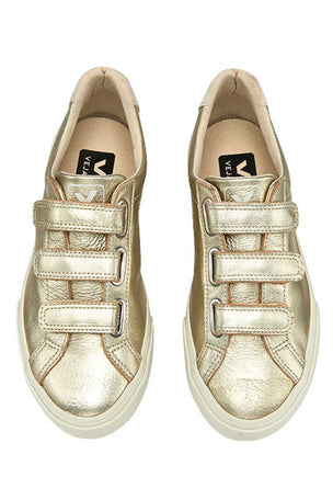 Veja Esplar Leather 3 Locks Gold - Women's image 3 - The Sports Edit