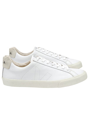Veja Esplar Leather White Trainers - Women's image 2 - The Sports Edit