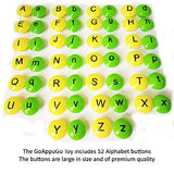 GoAppuGo Activity Toys - Large Buttons - Capital and Small Alphabet and Objects