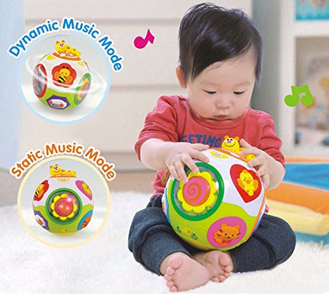 GoAppuGo Learning ball with automatic rotation, lights, music, animals sounds
