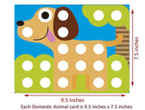 GoAppuGo Activity Toys - Large Buttons - Match The Colors and Complete the Animals (set of 10)