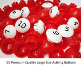 GoAppuGo Activity Toys - Large Buttons - Count and Match Numbers