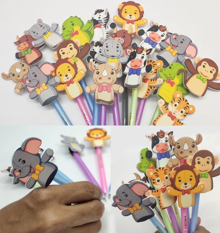 GoAppuGo Pack of 20 Fancy Pencil Toppers - Return Gift for Birthday Party for Kids