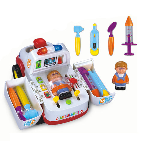 GoAppuGo Amazing Doctors Kit with musical Learning Ambulance