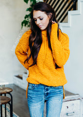 Sleepover Mustard Popcorn Hoodie Sweater - Bare Anthology