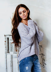 Happy Place Oversized Chenille Sweater - Bare Anthology