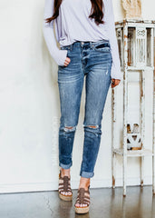 PREORDER Road Trip Kancan Distressed Jeans - Bare Anthology