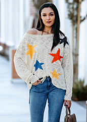 North Star Off Shoulder Sweater